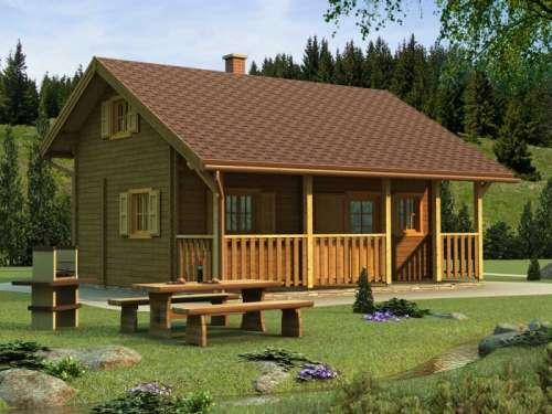 Rekreační chata dvoupatrová